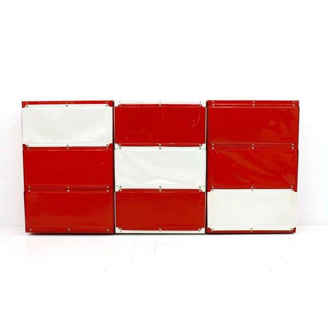 Mid-Century Modern Softline Wall System, Shelf, Bookshelf by Otto Zapf, Germany 1971, Red / White For Sale - Image 3 of 10