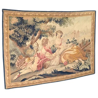 19th Century Aubusson Pastoral Tapestry For Sale