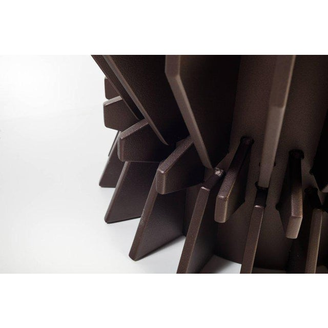 This planter has a very special metallic powder-coating in a custom paint chosen by Harry Clark. All solid steel....