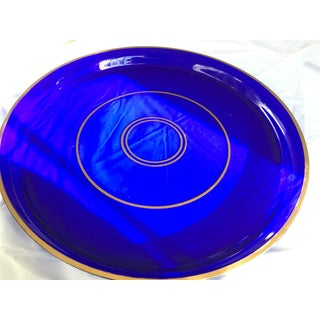 Antique Crystal Cobalt Blue Gallery Tray Preview