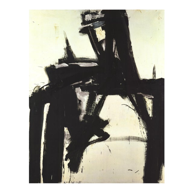 1997 Franz Kline 'Untitled (No Text)' Abstract Black & White Germany Offset Lithograph For Sale