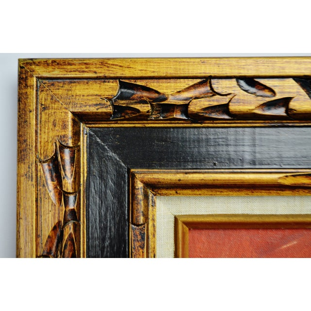 Paris Moulin Rouge Framed Signed Oil Painting - Image 10 of 10