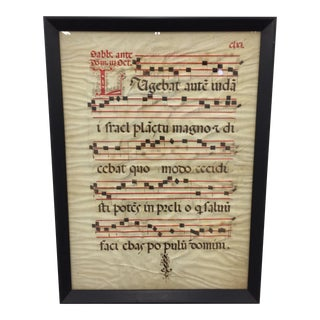 Framed Antique Sheet Music