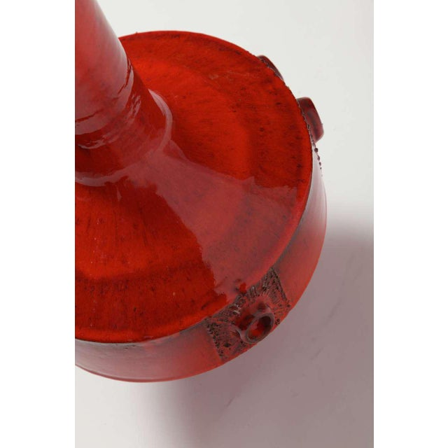 1960s Large Red Ceramic Amphora Vase,Belgium ,1960s For Sale - Image 5 of 10