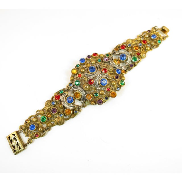 Renaissance Revival Victorian Austro-Hungarian Bejeweled Crystal Parure 1870s For Sale - Image 3 of 13