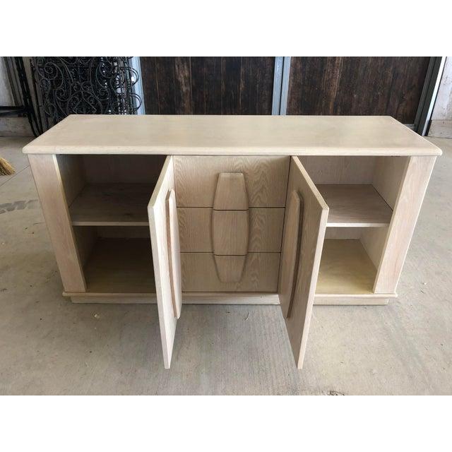 Wood Modern Cerused Oak Credenza For Sale - Image 7 of 9