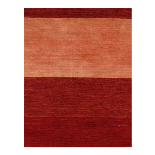 Modern Pasargad Red Persian Hand Knotted Gabbeh Design Rug 8' X 10' For Sale - Image 3 of 4