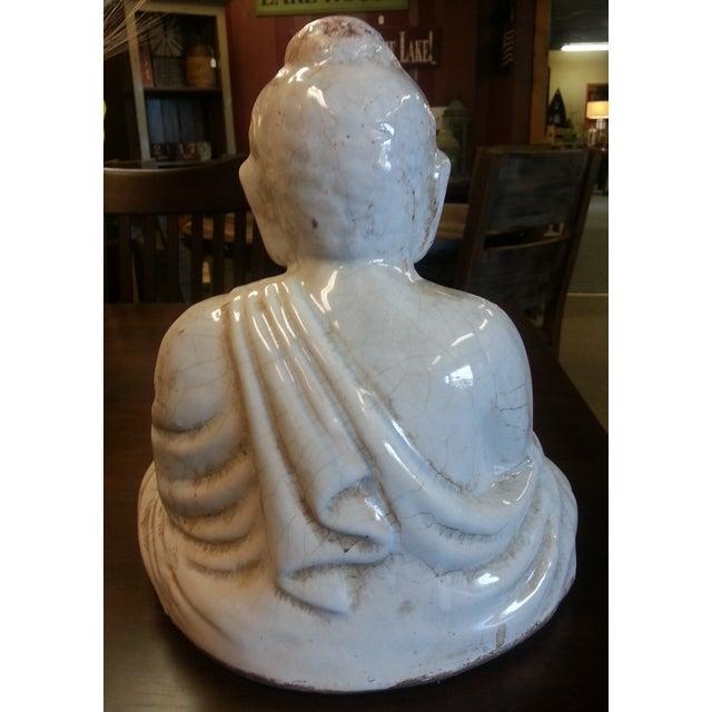 Sitting Buddha Statue With Ivory Finish - Image 5 of 7
