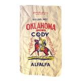 Image of Vintage Oklahoma Alfalfa Seed Sack For Sale