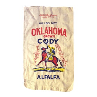 Vintage Oklahoma Alfalfa Seed Sack For Sale