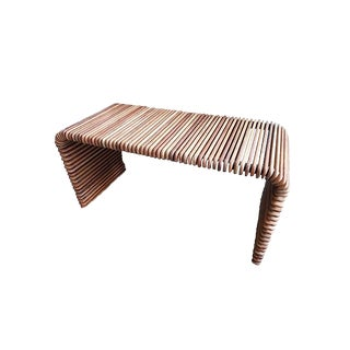 Slatted Waterfall Console For Sale