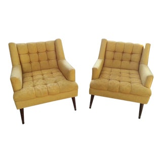 1950's Mid Century Modern Paul McCobb Club Chairs - a Pair For Sale
