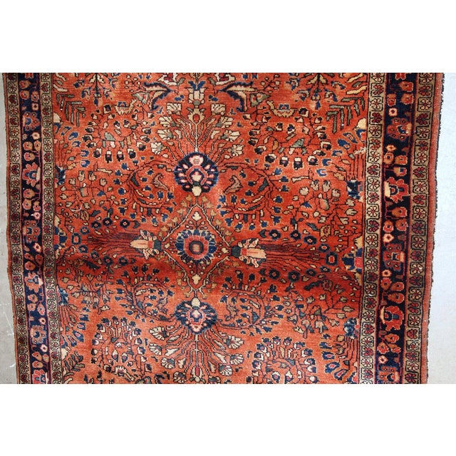 1920s, Handmade Antique Persian Sarouk Rug 3.5' X 5.5' For Sale - Image 4 of 6