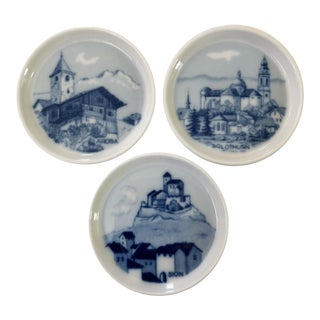 Swiss Blue and White Coasters For Sale