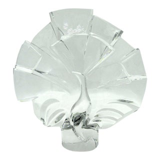 French Crystal Peacock Sculpture For Sale