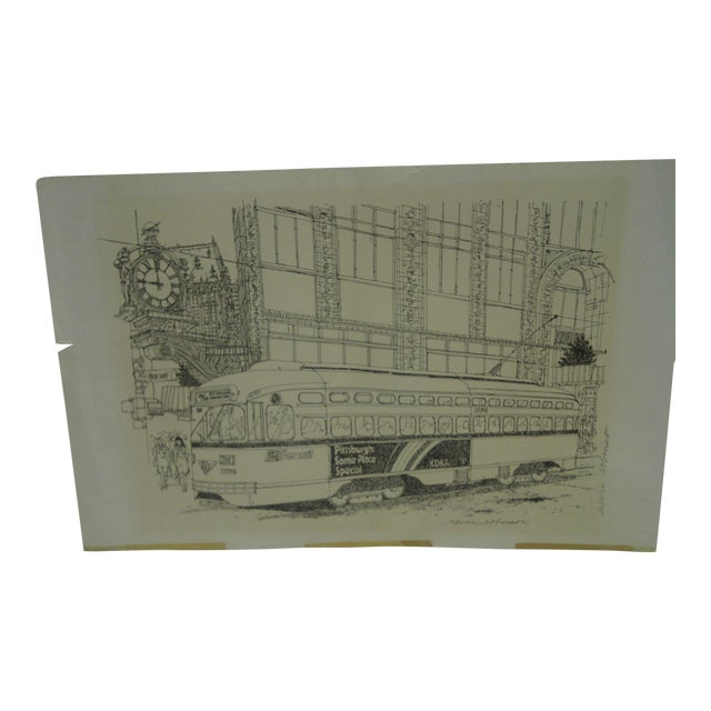 Pittsburgh PAT Transit Cable Car Print For Sale
