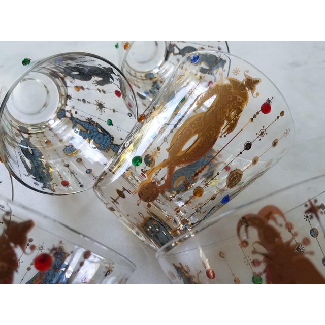 Culver Mardi Gras Glasses - Set of 6 For Sale - Image 9 of 10