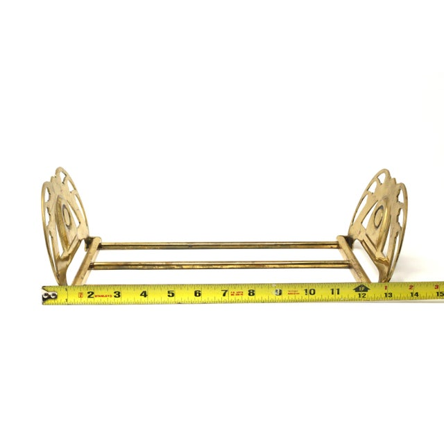 Brass Vintage Folding Brass Wreath and Ribbon Book Holder For Sale - Image 8 of 10