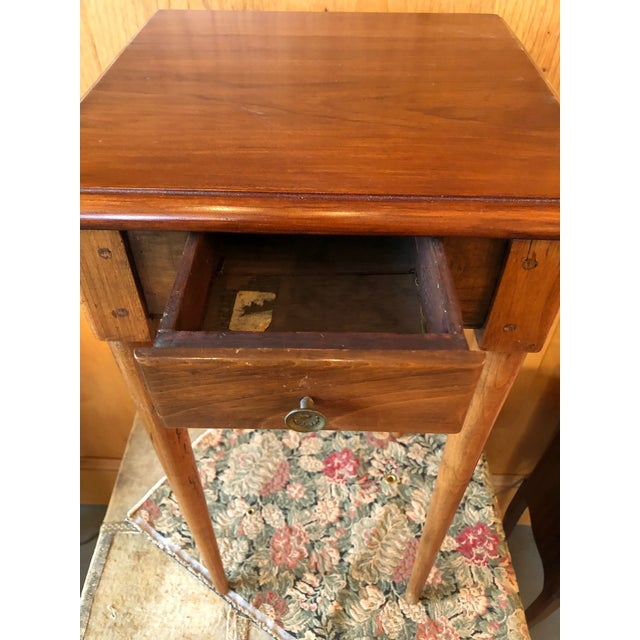 Brown 1800 French Fruitwood Petite One Drawer Side Table For Sale - Image 8 of 9