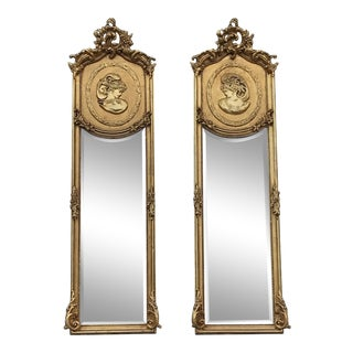 Rococo Style Wall Mirrors - a Pair For Sale