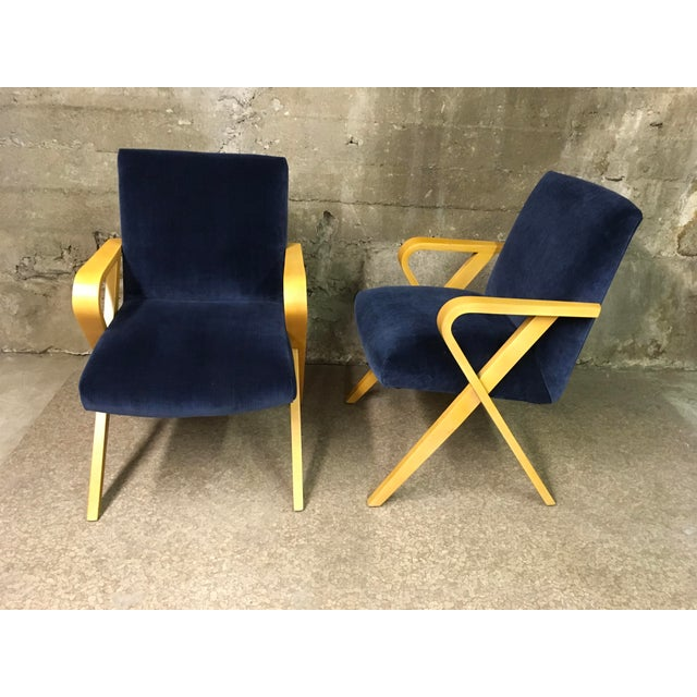 We've had a pair of these before, rare and hard to find Thonet bentwood armchairs. These were originally from one of the...