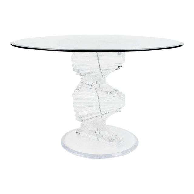 Lucite Spiral Dining Table For Sale