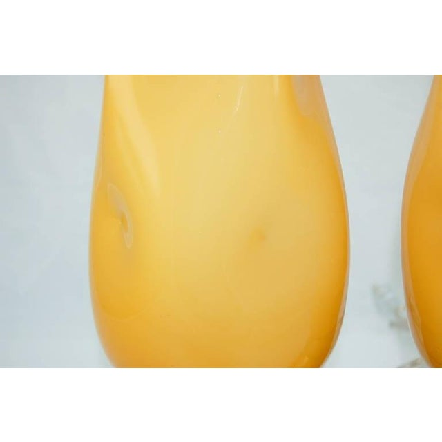 Vintage Murano Glass Table Lamps Butterscotch For Sale - Image 9 of 9