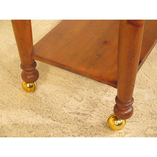 Habersham Plantation Country Distressed Cart Table For Sale - Image 9 of 13