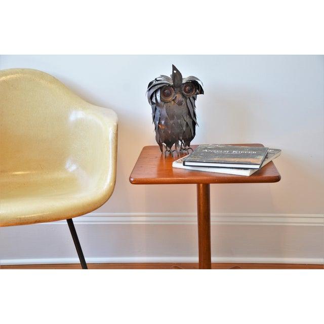 Wood 1970s Mid-Century Modern Teak Pedestal Side Table For Sale - Image 7 of 11