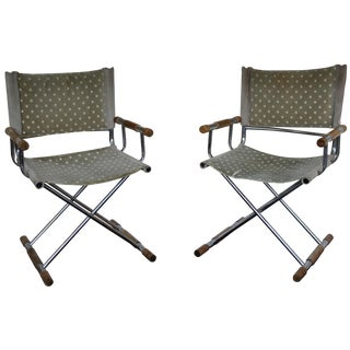 Chrome Directors Chairs After Cleo Baldon - A Pair