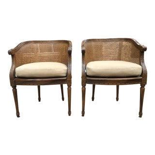 Century Furniture Louis XVI Barrel Back Chairs- A Pair For Sale