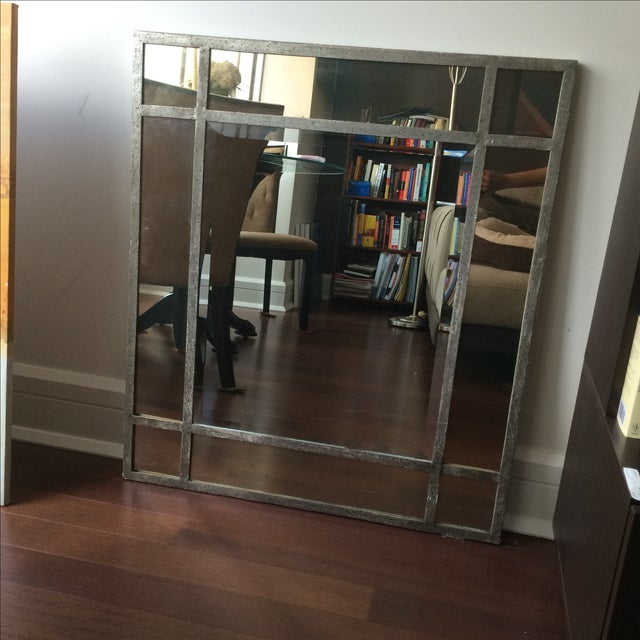 Antique Finish Silver Mirror - Image 2 of 9