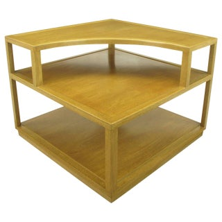 Edward Wormley Bleached Mahogany Corner Table for Dunbar For Sale