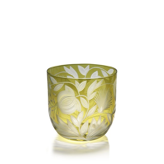 Traditional Verdure Whiskey Glasses, Set of 6, Olive For Sale - Image 3 of 4