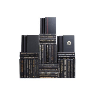 Modern Luxe Book Wall : Set of Fifty Decorative Books For Sale