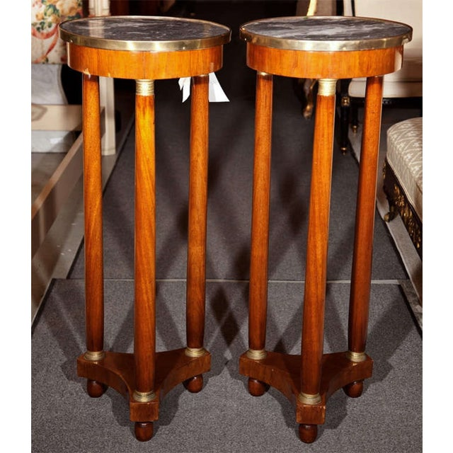 19th Century Marble Top Pedestals - Pair - Image 2 of 8
