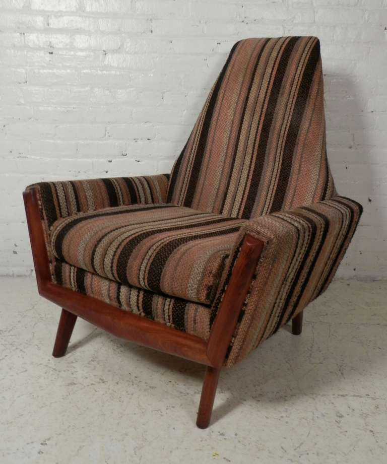 Adrian Pearsall Style Mid Century Arm Chair   Image 2 Of 10