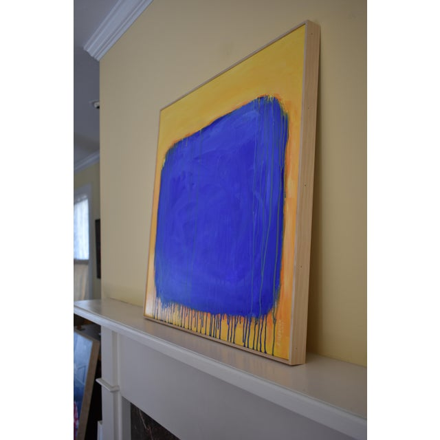 "Paint ""The Sun Came Up and It Was Blue and Gold"" Contemporary Abstract Painting by Stephen Remick For Sale - Image 7 of 11"