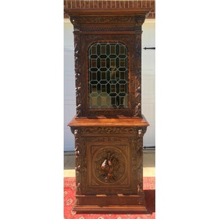 Antique Oak & Stained Glass Bookcase Preview