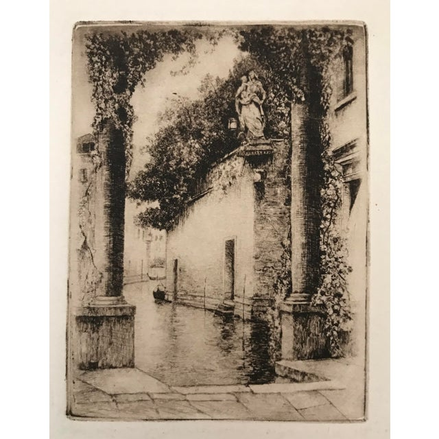 20th Century Dry Point Etchings - a Pair For Sale In Palm Springs - Image 6 of 8