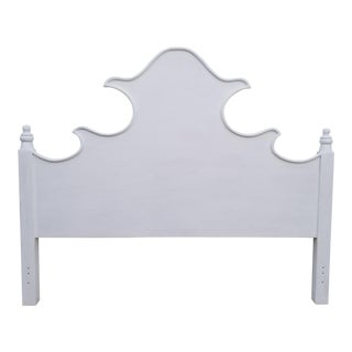 1980s Hollywood Regency Inspired King Size Headboard For Sale