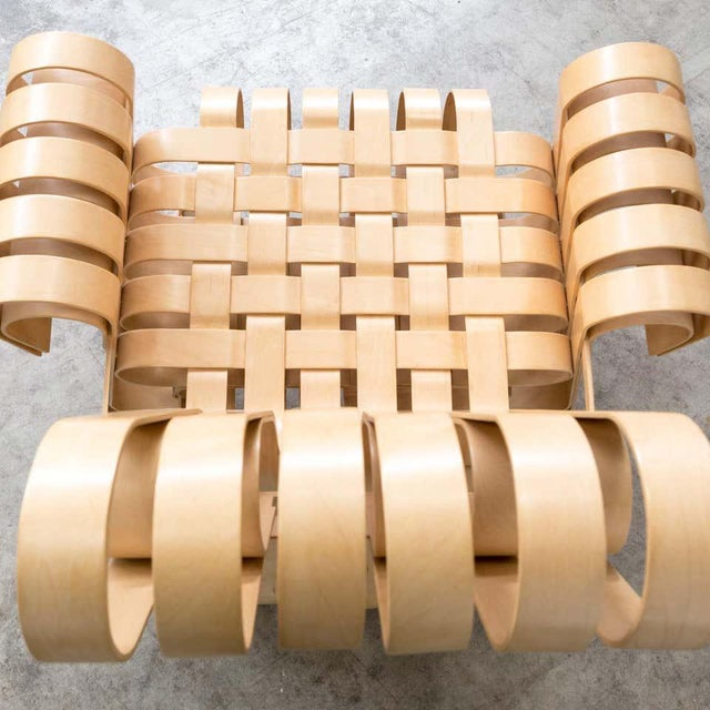 Wood 1990s Vintage Frank Gehry for Knoll International Power Play Chair For Sale - Image 7 of 8
