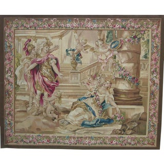 21th Century Authentic Wall Hanging Tapestry 7'4'' X 6' Ft For Sale