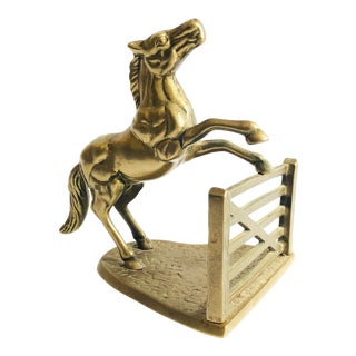 Vintage Brass Jumping Horse For Sale
