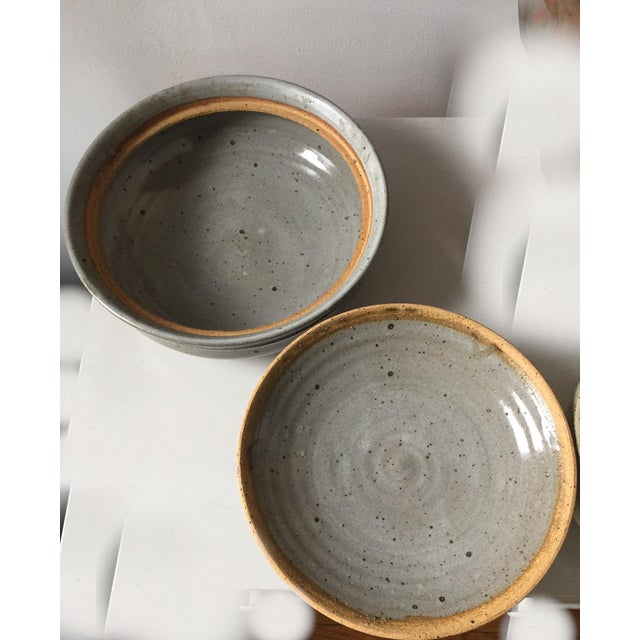 Signed Gerry Williams Mid-Century Stoneware Lidded Bowl - Image 6 of 7