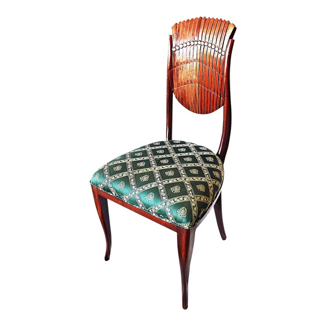 Scallop-Carved Side Chair For Sale