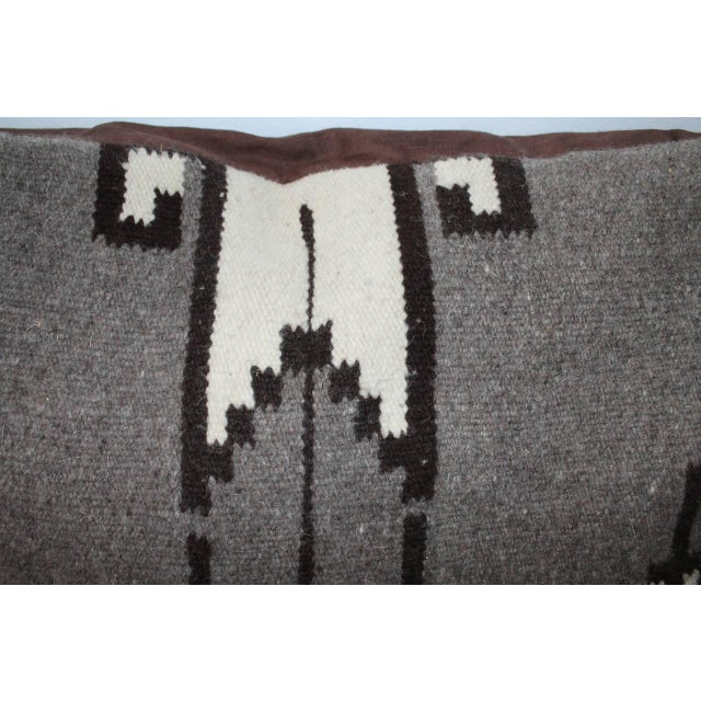 Mexican Indian Weaving Geometric Bolster Pillow For Sale - Image 4 of 8