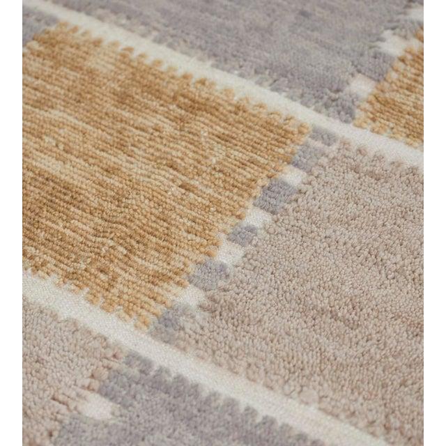 2010s Handwoven Swedish Inspired Flatweave Wool Rug For Sale - Image 5 of 8