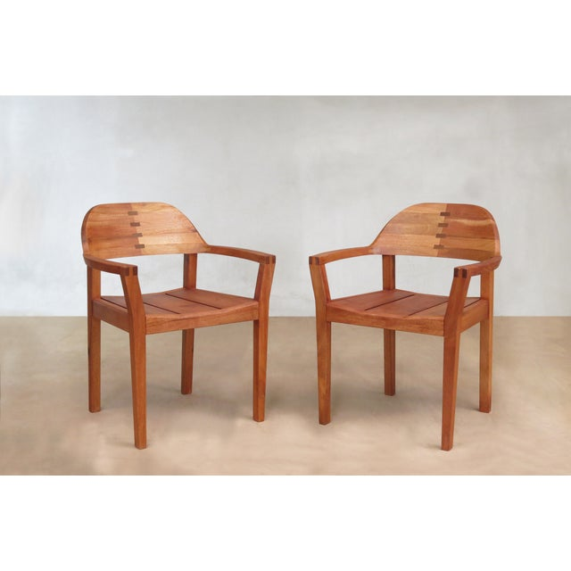 Mid Century Modern Dining or Desk Chairs Sustainably Sourced Royal Mahogany. Xiloa Chairs - 4 - Image 2 of 9