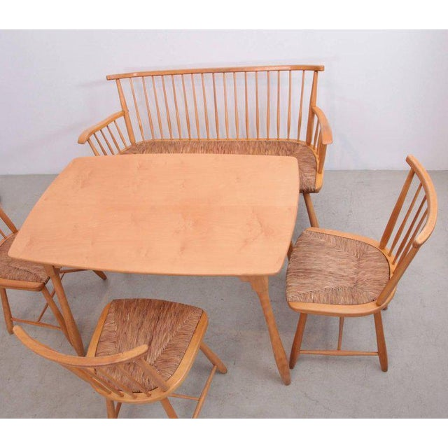 Arno Lambrecht Dining Set of Table, Three Chairs and a Bench for WK Mobel For Sale - Image 6 of 11
